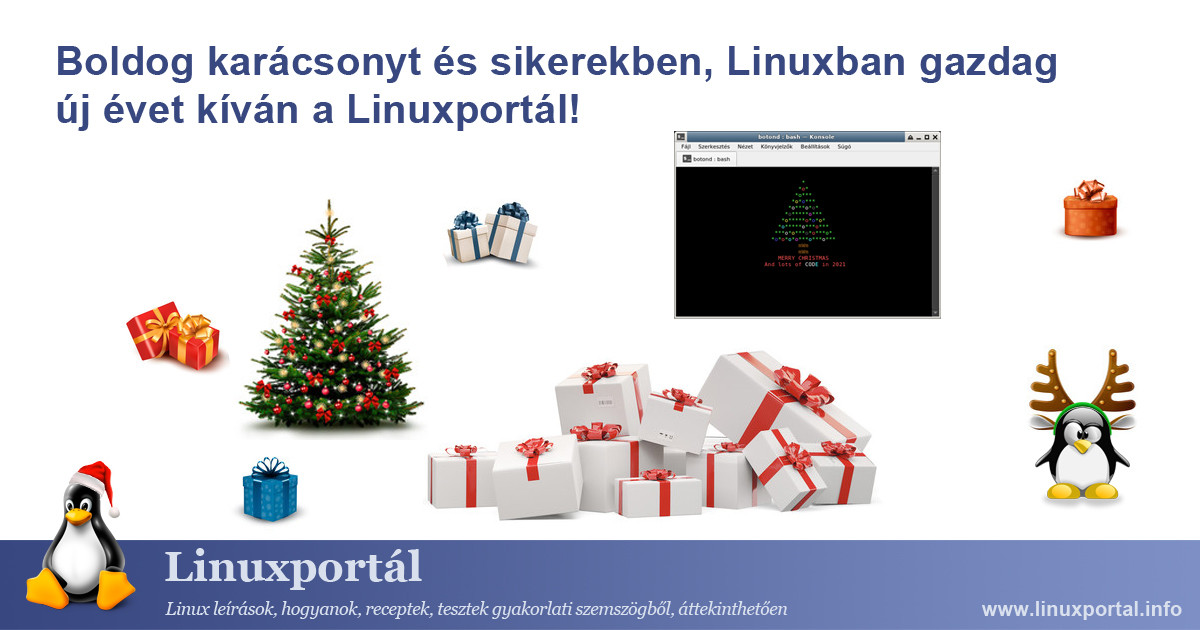 Merry Christmas and a new year full of success in Linux!