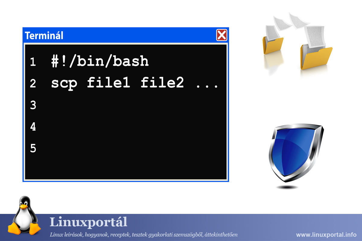Copy multiple files securely with the scp command