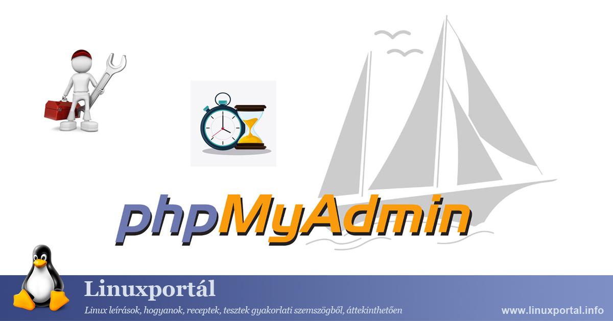 phpMyAdmin session settings Linux Portal