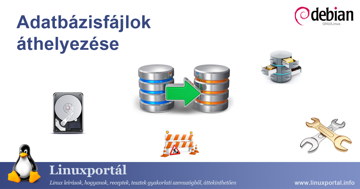 Move database files to another partition Linux Portal