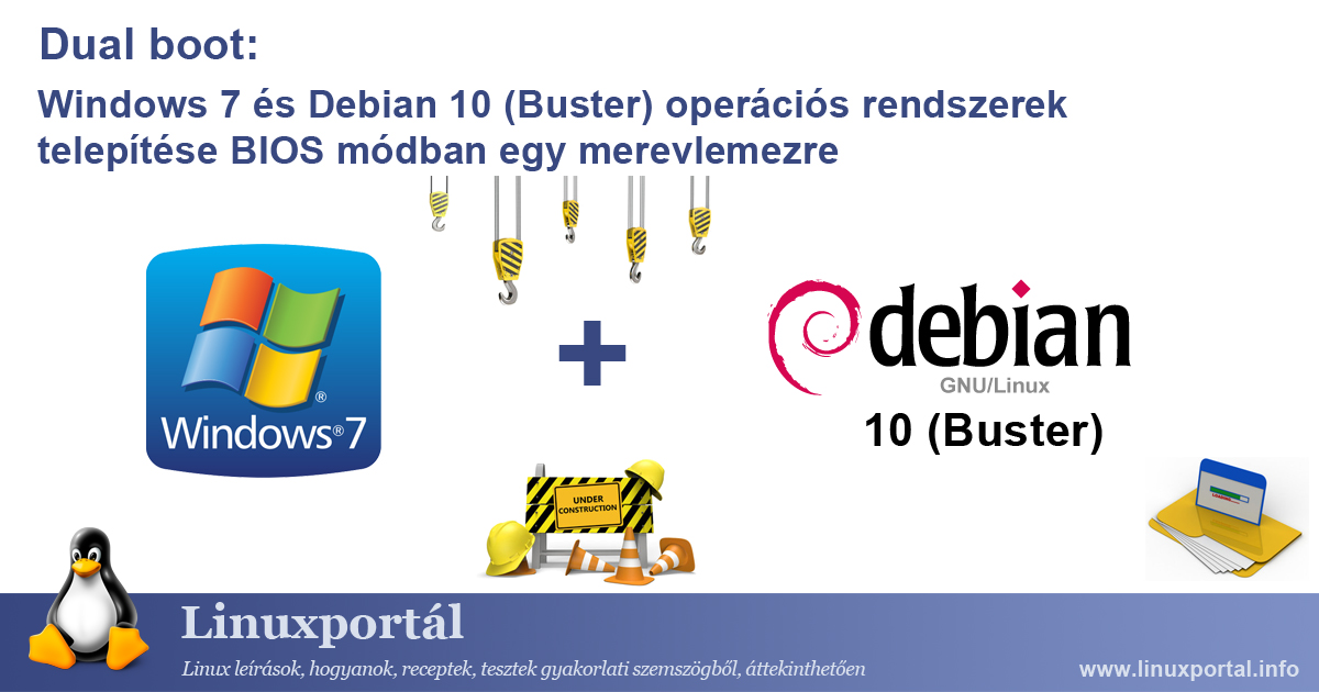 Dual Boot: Installing Windows 7 and Debian 10 (Buster) Operating Systems in BIOS Mode on a Hard Disk | Linux Portal