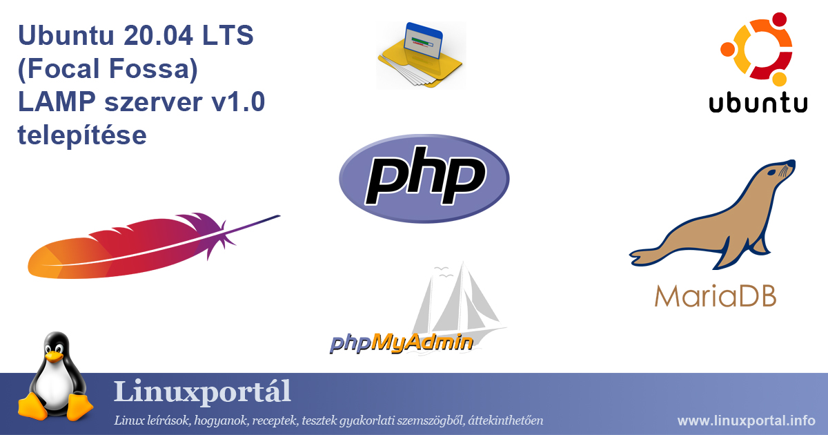 Install Ubuntu 20.04 LTS (Focal Fossa) LAMP Server v1.0 Linux portal
