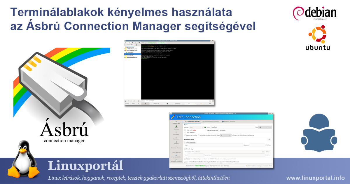 Convenient use of terminal windows with Asbrú Connection Manager Linux portal