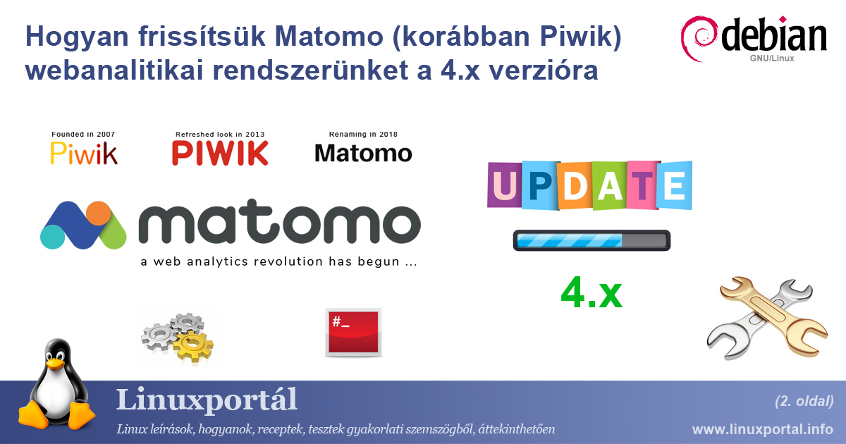 How to upgrade our Matomo (formerly Piwik) web analytics system to version 4.x (page 2) | Linux portal