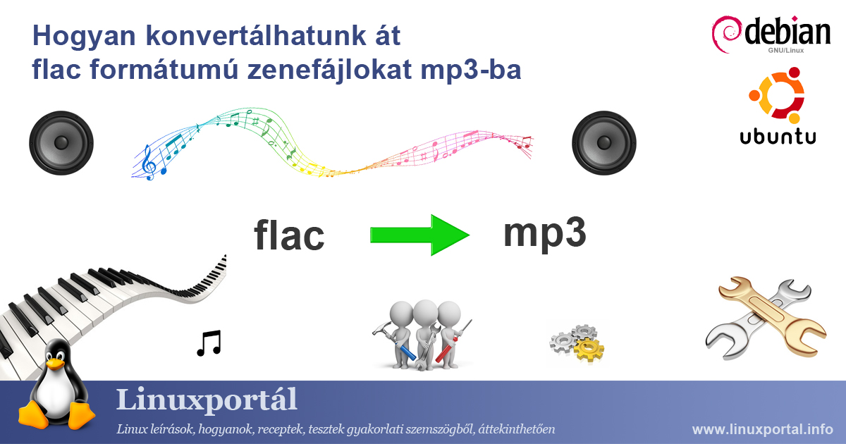 How to convert flac music files to mp3 | Linux portal