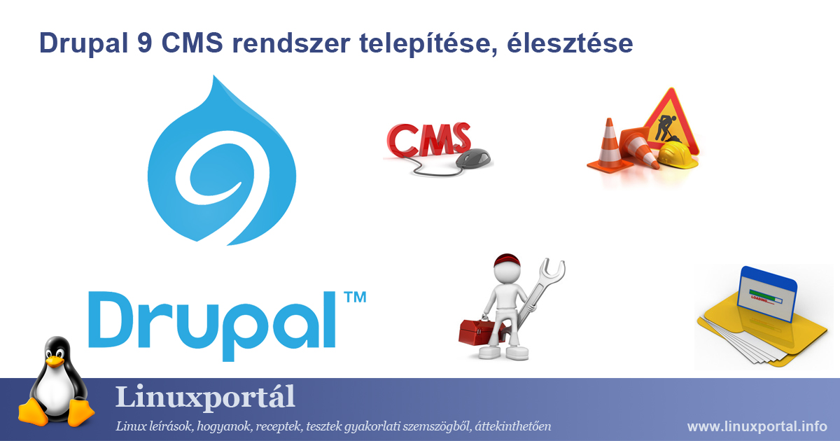 Installing and setting up Drupal 9 CMS system Linux Portal