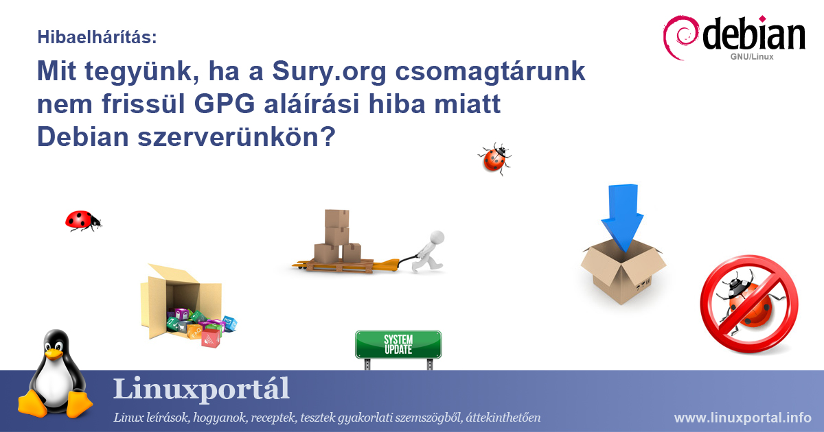 What if our Sury.org repository is not updated due to a GPG signing error on our Debian server? | Linux portal