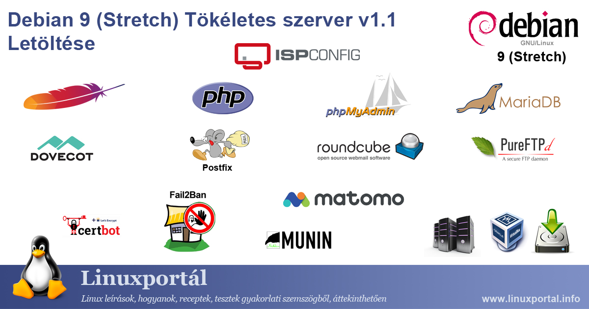 Download the perfect server: Debian 9 (Stretch) v1.1 | Linux portal
