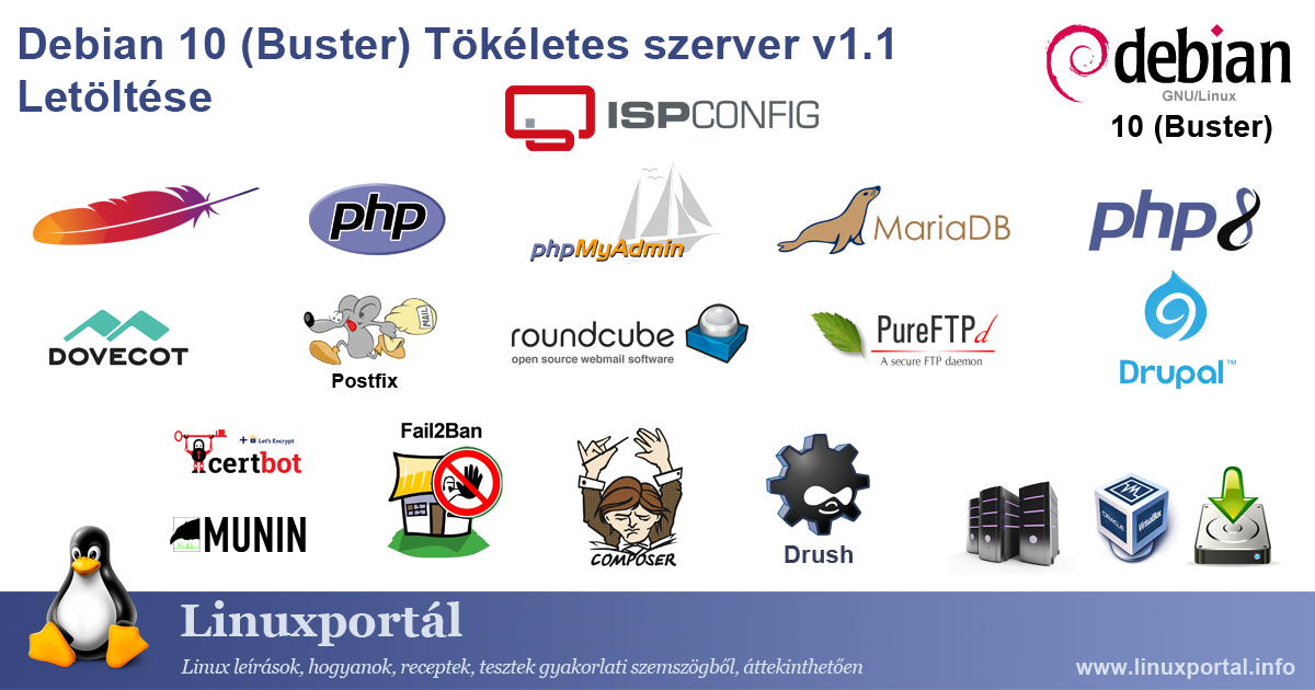 Download the perfect server: Debian 10 (Buster) v1.1 | Linux portal