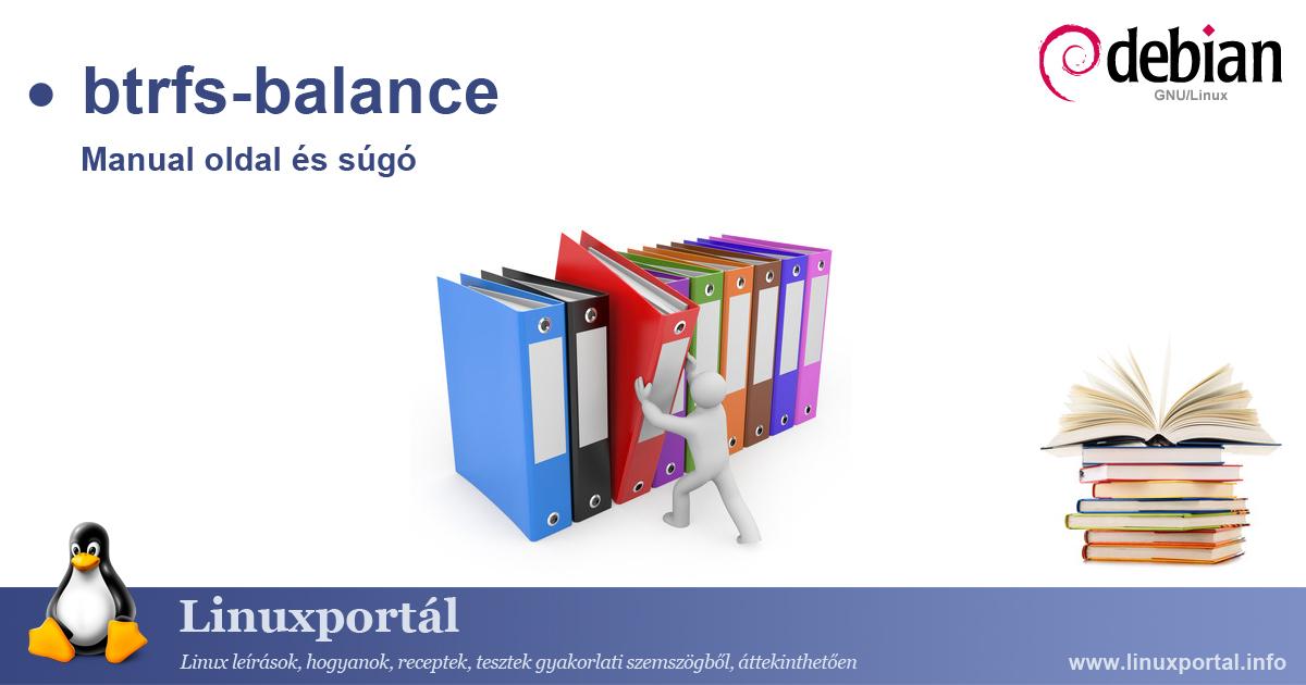 Linux btrfs-balance manual page and help   Linux Portal