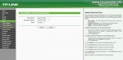 Router beállítása - Fix IP-cím beállítása VirtualBoxhoz
