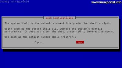 Debian 8 - Dash konfigurálása