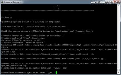 ISPConfig 3 frissítése - Szolgáltatások újrakonfigurálása