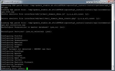 ISPConfig 3 frissítése - ISPConfig port beállítása