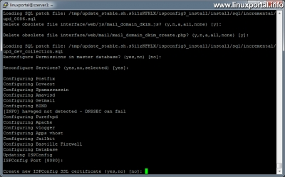 ISPConfig 3 frissítése - Új SSL tanúsítvány generálása