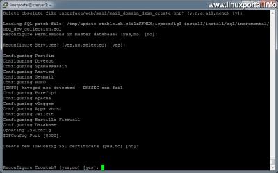 ISPConfig 3 frissítése - Crontab újrakonfigurálása
