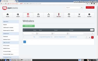 Webfiók létrehozása az ISPConfig rendszerben - Elkészült webtárhely