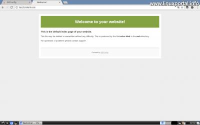 Webfiók létrehozása az ISPConfig rendszerben - Tárhely tesztelése - ISPConfig üdvözlő képernyő