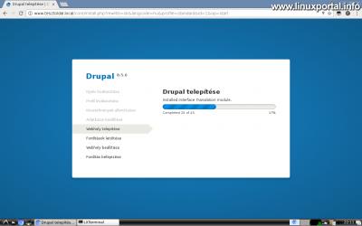 Drupal 8 telepítése - Telepítési folyamat