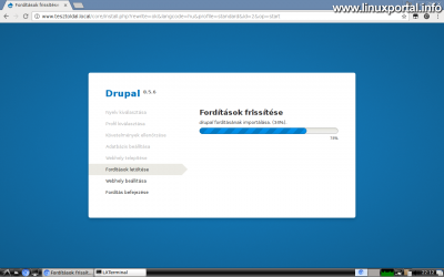 Drupal 8 telepítése - Fordítások frissítése
