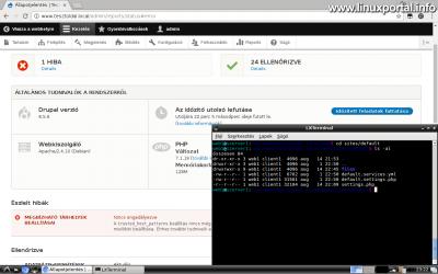 Drupal 8 telepítése - settings.php konfigurációs fájl beállítása