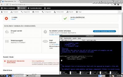 Drupal 8 telepítése - settings.php - trusted_host_patterns rész beállítása