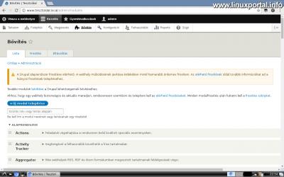 Drupal 8 alaprendszer frissítése - Frissítési értesítő
