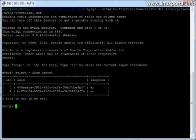 Parancssori adatbázishasználat - Mysql biztonságos használata a defaults fájl segítségével