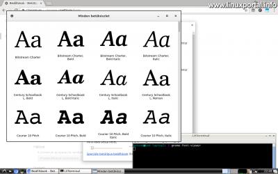 Karakterkészletek telepítése - Gnome Font viewer