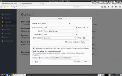 Karakterkészletek telepítése - Firefox beállítása
