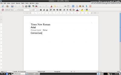 Karakterkészletek telepítése - LibreOffice