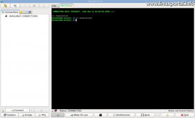 PAC Manager v4.5.5.7 - Működő terminál ablak