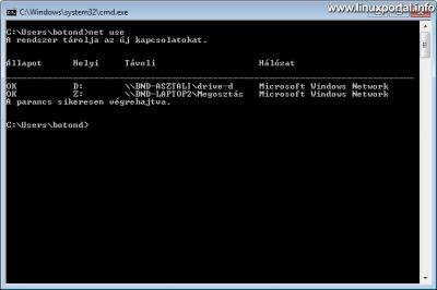 Windows - Hálózati kapcsolatok listázása parancssorból