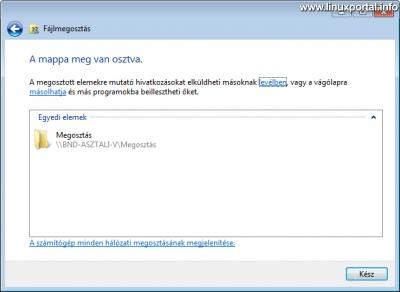 Windows - Megosztott könyvtár