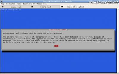 Debian frissítés - Csomag konfiguráció