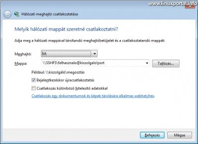 Windows 7 - Hálózati meghajtó csatlakoztatása