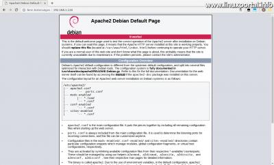 Apache2 alapértelmezett oldal