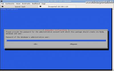 phpMyAdmin konfigurálása - root jelszó bekérése
