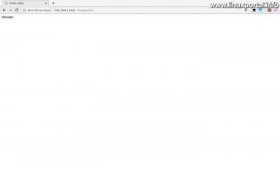 Apache2 - HTML tartalom tesztelése a felhasználói webkönyvtárban