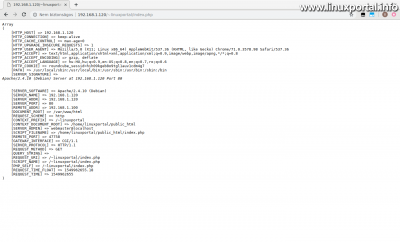 PHP $_SERVER tömb vizsgálata a felhasználói webkönyvtárban