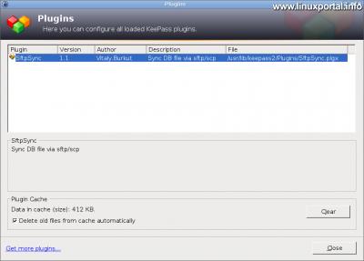 KeePass - Telepített bővítmény