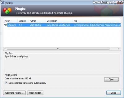 KeePass - Telepített plug-in Windows rendszeren