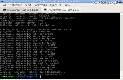 A php5-fpm csomag telepítésekor engedélyezi a bővítményeket a PHP-FPM SAPI számára