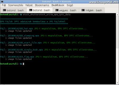 ExifTool - Példaprogram működés közben