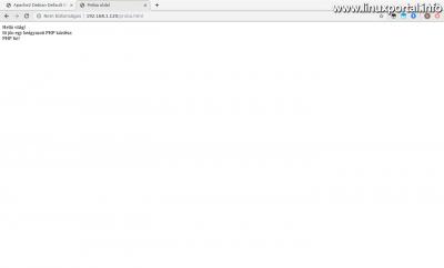 PHP beágyazott kódrész tesztelése - Működik!