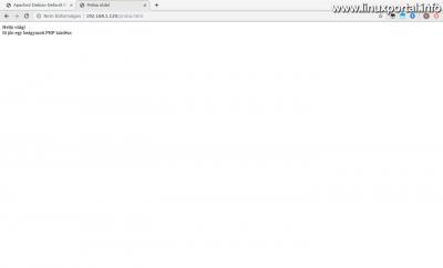PHP beágyazott kódrész tesztelése - Még nem működik