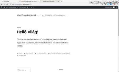 WordPress - Kezdőoldal