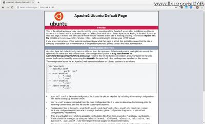Apache Ubuntu alapértelmezett oldala