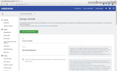 Matomo - Új weboldal létrehozása