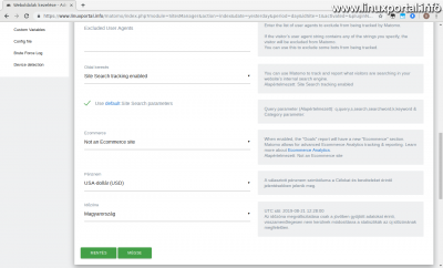 Matomo - Új weboldal létrehozása (3. kép)